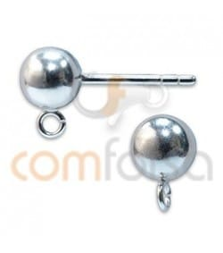 Sterling silver 925 Ball Earring with rings 5 mm
