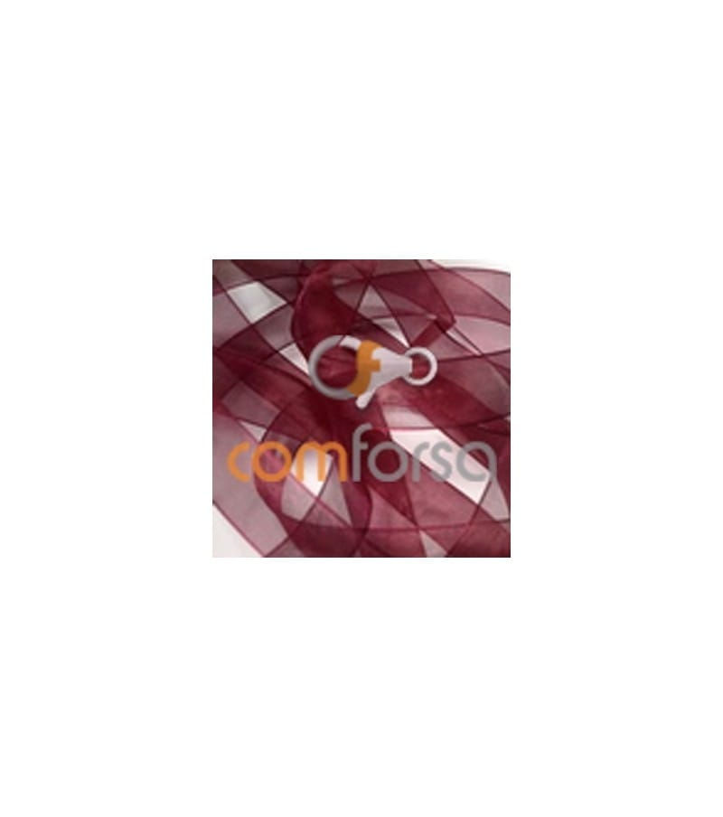 Silk organza garnet 14mm (50m)