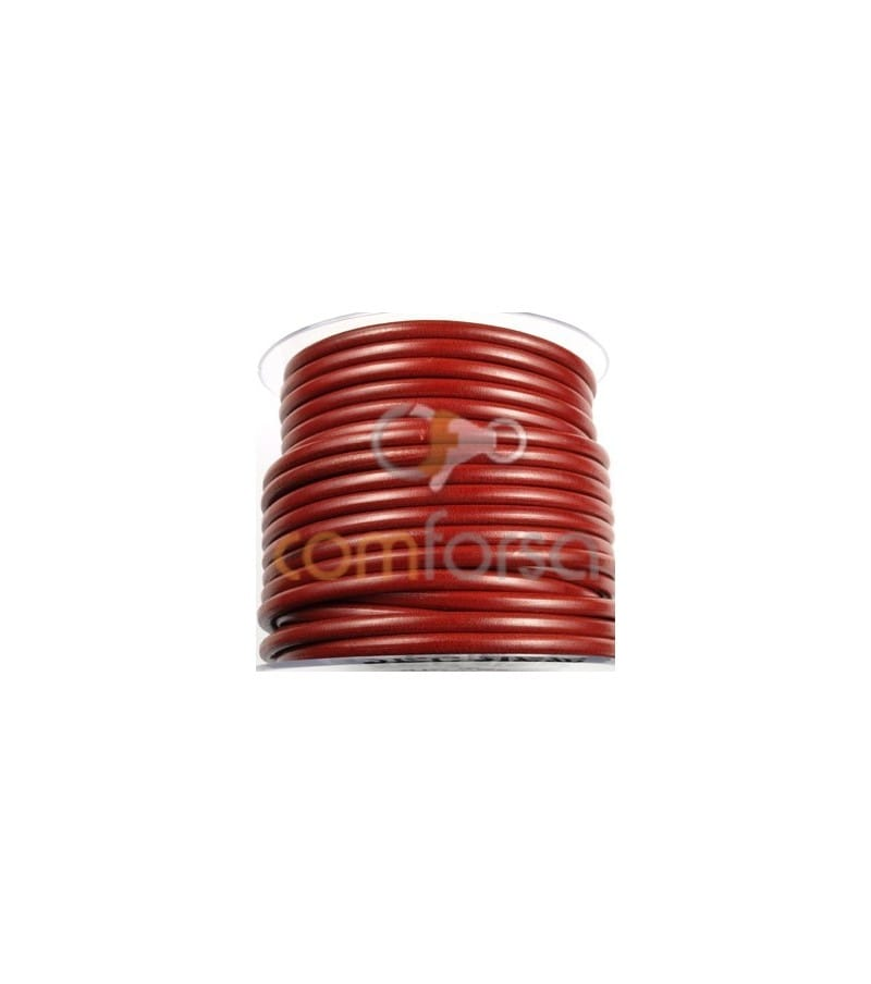 Red Leather 6mm Premium Quality