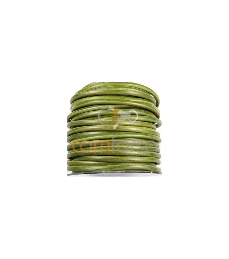 Green Leather 6mm Premium Quality