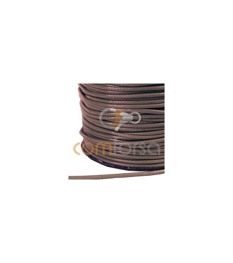 Brown Waxed Cord 1mm