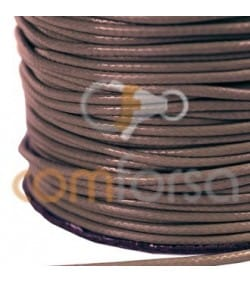 Brown Waxed Cord 2mm