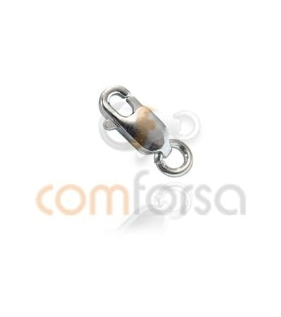 Sterling Silver 925 lobster clasp with jumpring 2.5 x 7mm