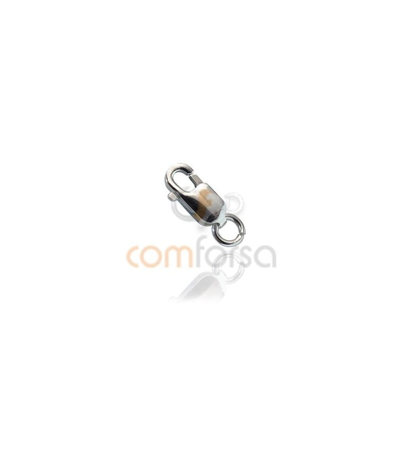 Sterling Silver 925 lobster clasp with jumpring 3 x 8mm