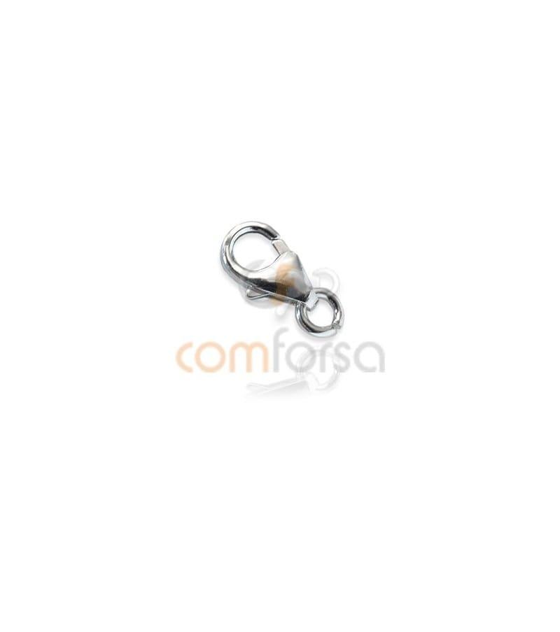 Mosquetón redondo con anilla 4x7 mm plata 925