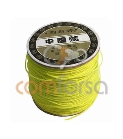 Yellow Fluor Nylon Cord 1mm (meters)