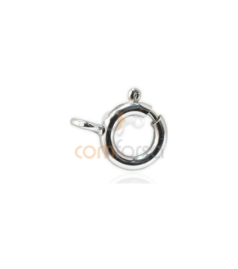 Sterling silver 925 Bolt ring 8 mm extra weight silver 925