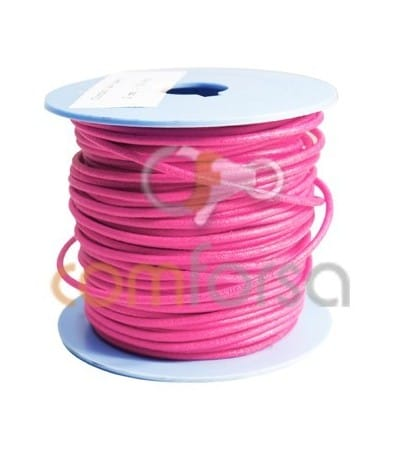 Pink Fluo Leather 2mm Premium Quality
