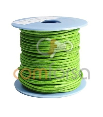 Green Fluo Leather 2mm