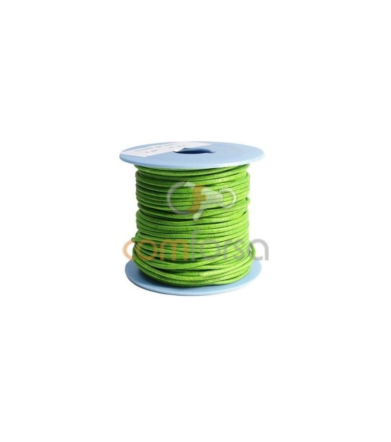 Cuero verde fluor 2 mm Calidad premi