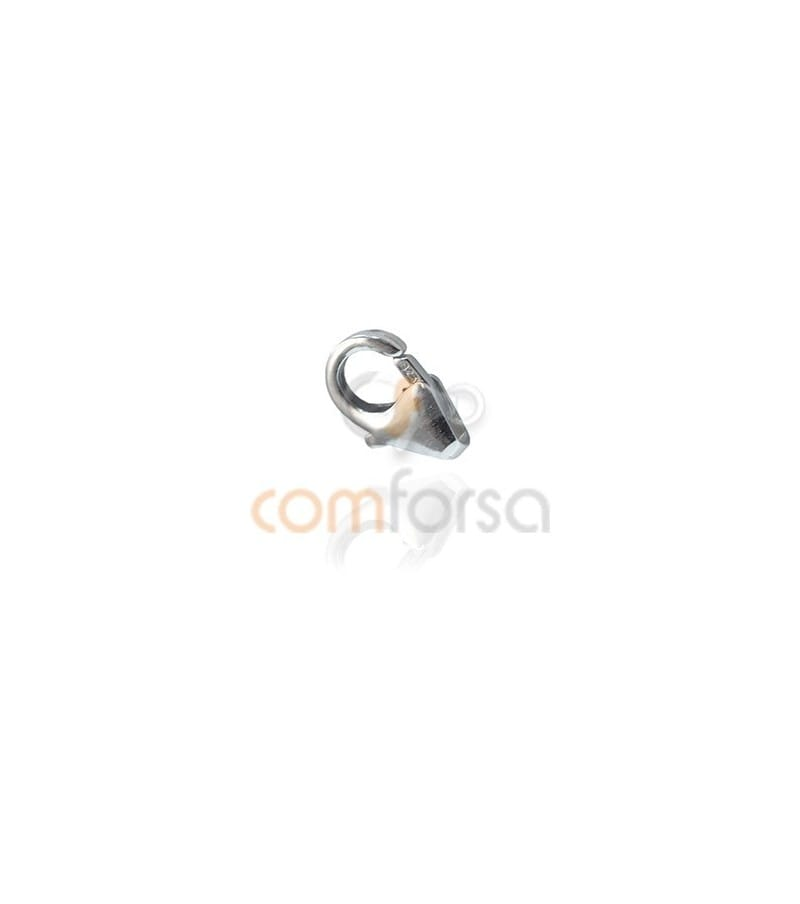 Mosquetón redondo sin anilla 4x7 mm en plata 925