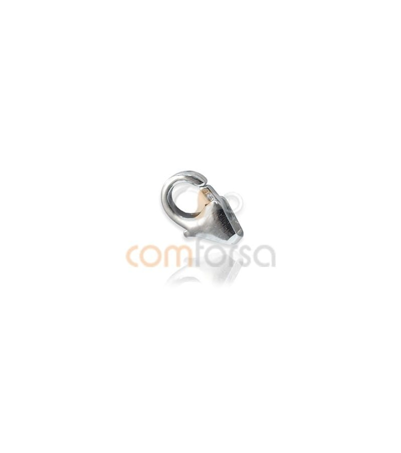 Sterling silver 925 Round lobster without jumpring  5x8 mm