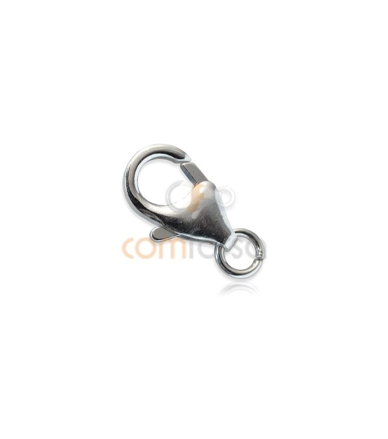 Sterling silver 925 Trigger lobster clasp with jump ring  8x13 mm