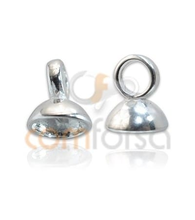 Sterling Silver 925 Cap with jumpring for beading 8mm