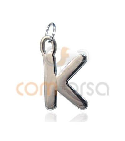 Colgante letra K 6 x 11 mm