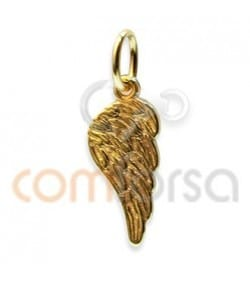 Gold Plated Sterling Silver 925 Wing Pendant 7x16mm