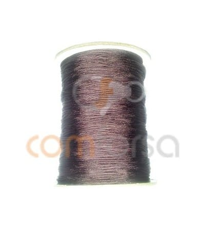 Braided Nylon 0.5mm (sold per meter) Brown