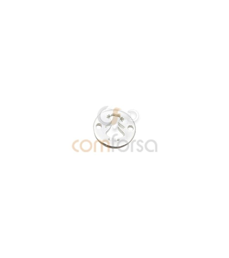 Sterling silver 925 hollow girl bead with double hole 12.5mm