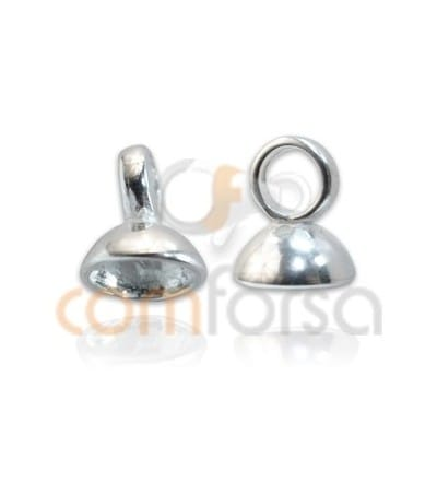 Sterling Silver 925 Cap with ring for beading 7mm