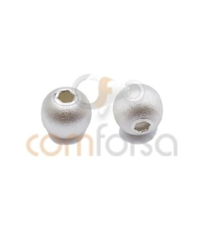 Sterling Silver 925 matted ball bead 6mm