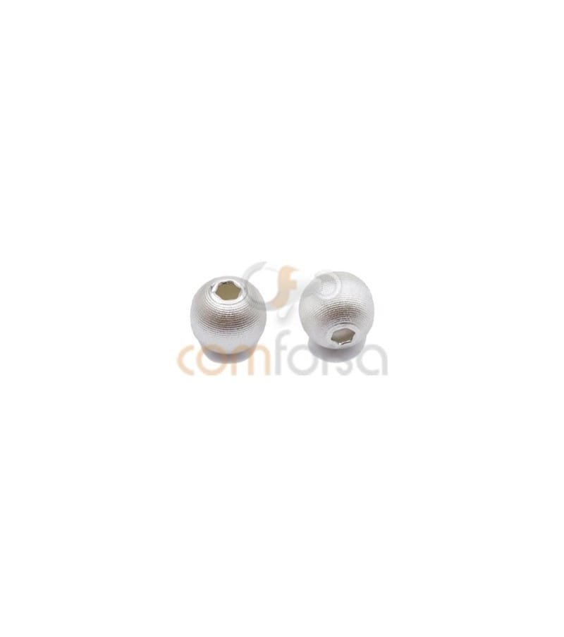 Sterling silver 925 matted ball bead 7mm