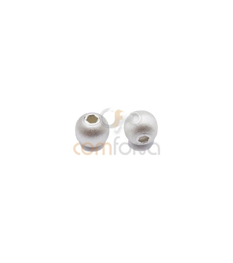 Sterling silver 925 matted ball bead 8mm