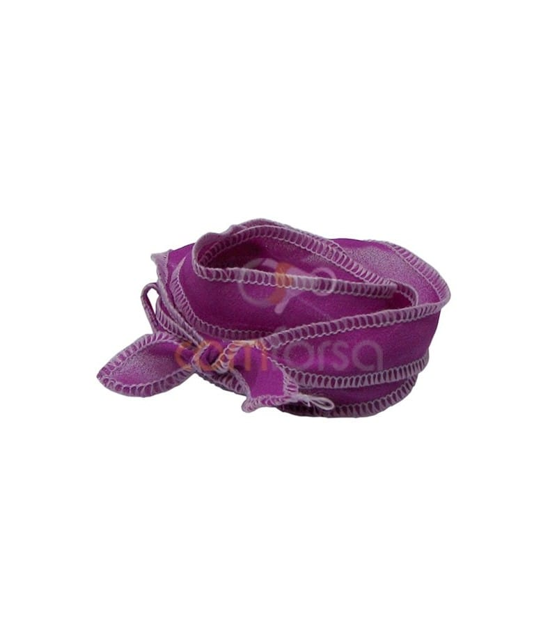 Trimmed Thai Silk Fuchsia/Pink 95cm