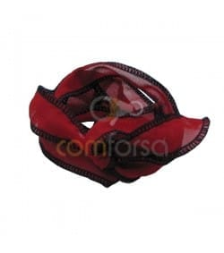 TTrimmed Thai Silk Red/Black 60cm