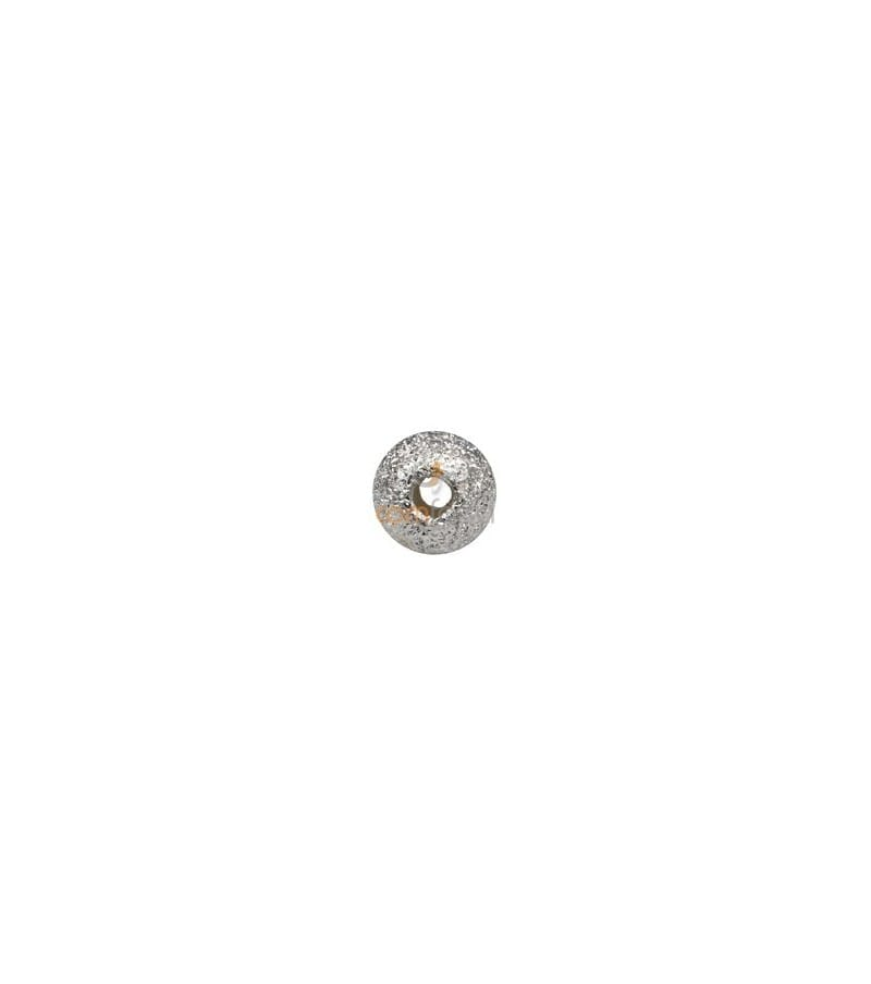 Sterling silver 925 Round laser cut bead 6 mm