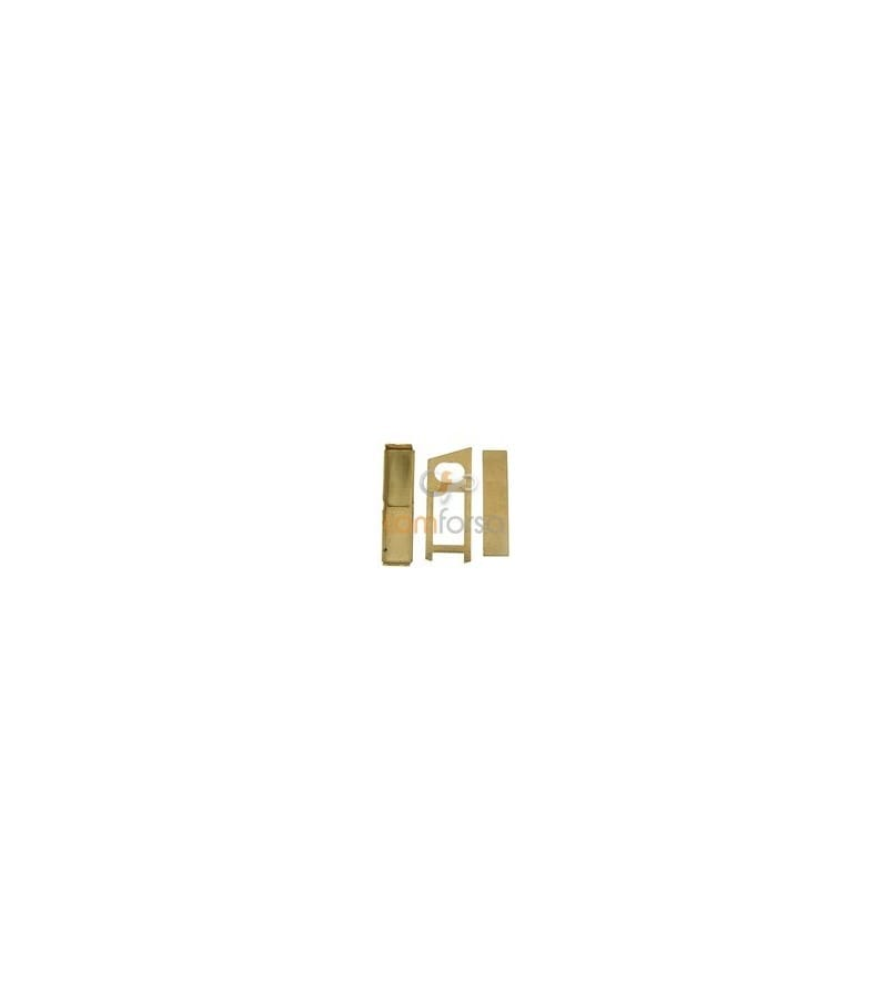 18kt Yellow gold cuff link system