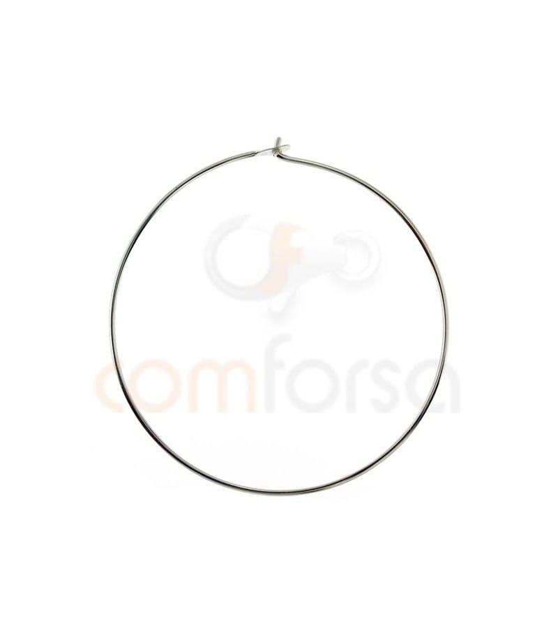 Sterling silver 925 Hoop earing with catch 30 mm