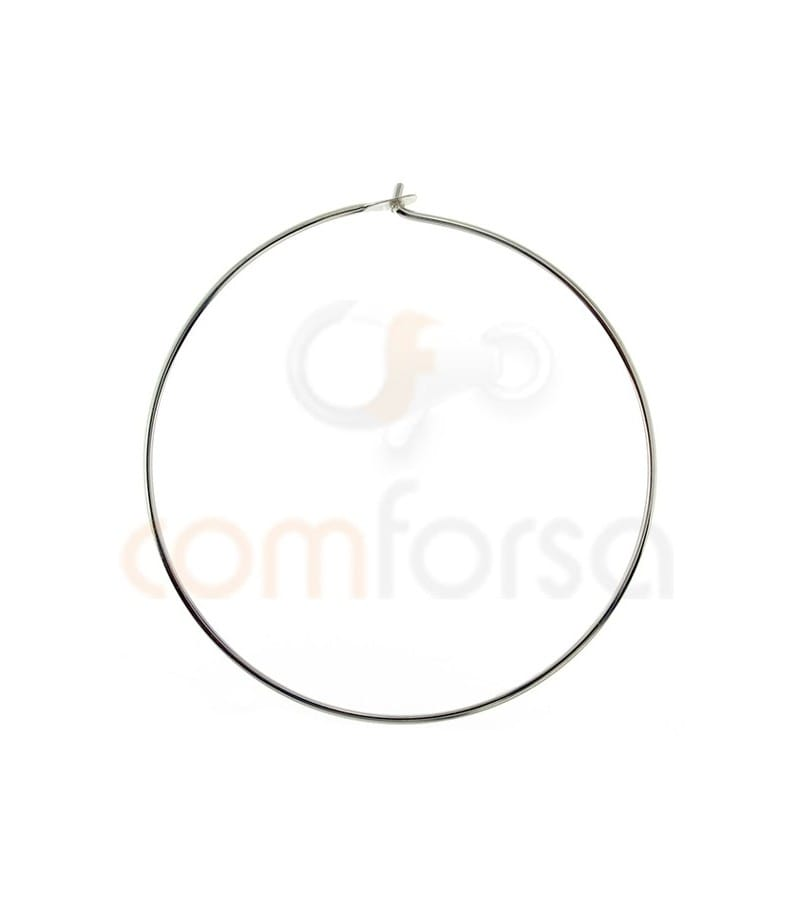 Sterling silver 925 Hoop earing with catch 35 mm