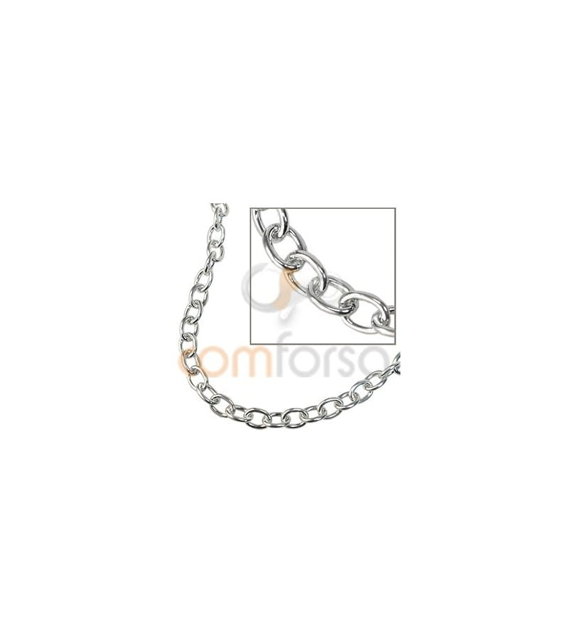 Sterling silver 925 Chain extra weight 8 X 6 MM (1.5)