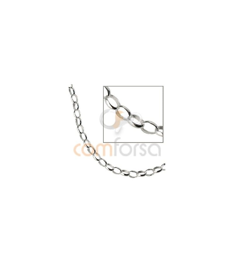 Sterling silver 925 round belcher chain oval 5 x 3.2