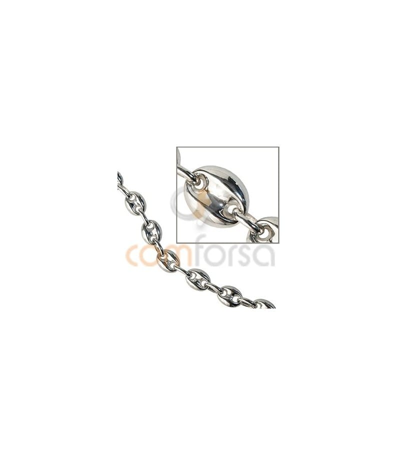 Sterling silver 925 puffed marina chain 7 x 9 mm