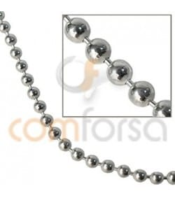 Sterling silver 925 round ball chain 2 mm
