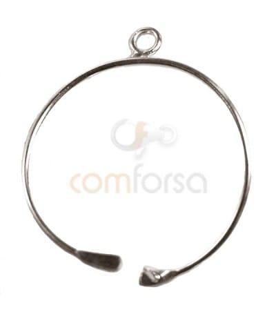 Colgante hilo circular pequeño 15 mm plata 925