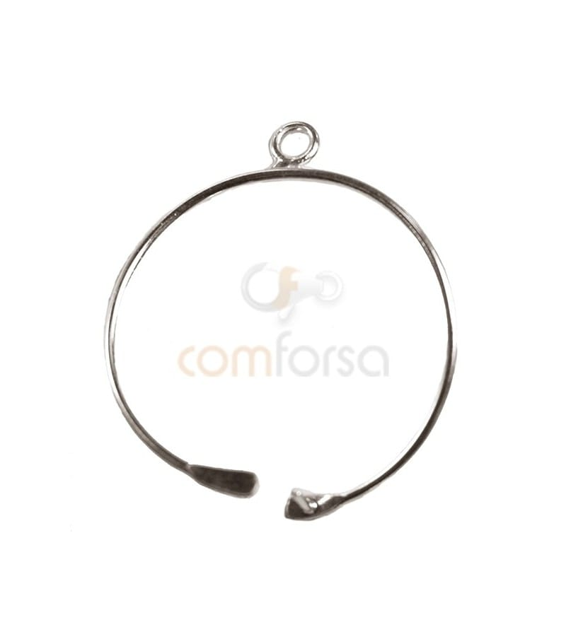 Sterling Silver 925 Circular Hook Small 15mm