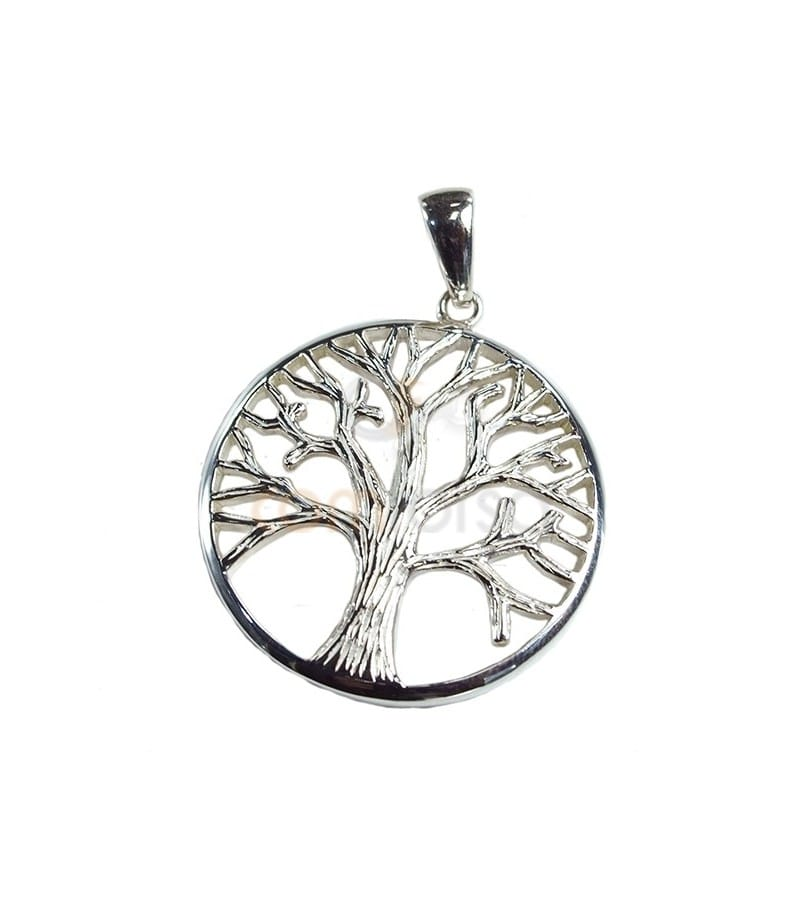 Sterling Silver 925 Tree of Life Pendant 25.2mm