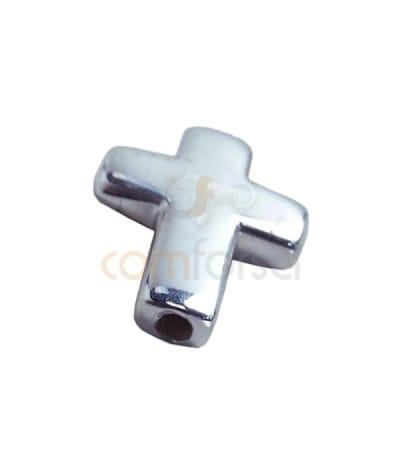 Entrepieza pasada cruz 11.5 x 15.1mm plata 925ml