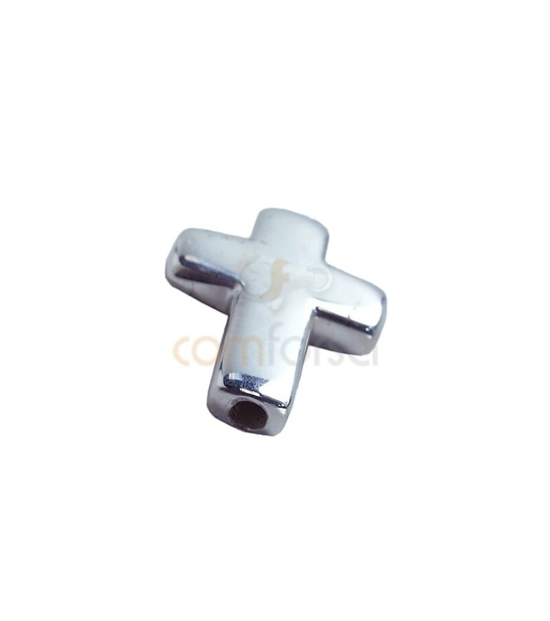 Sterling silver 925 cross spacer 11.5 x 15.1 mm