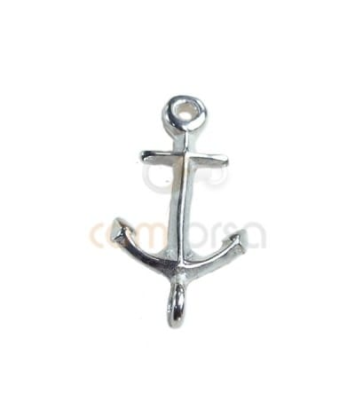 Sterling silver  925ml double jump ring anchor 9 x16.7mm silver 925ml