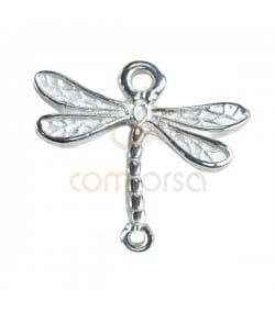 Sterling silver 925ml Dragonfly connector double jump ring 19.1 x 19.4 mm