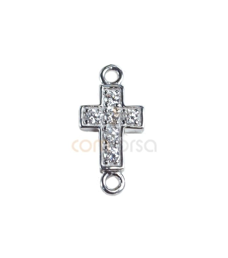 Sterling silver 925ml Cross connector 13.5 x .3 mm