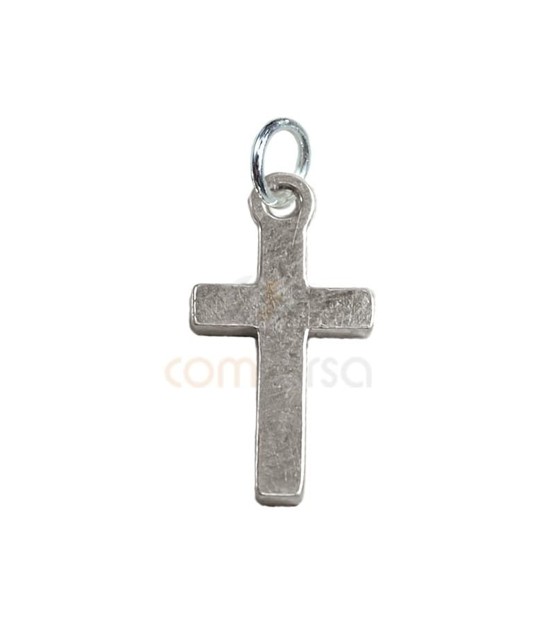 Sterling Silver 925 Cross Pendant with Jump Ring 9 x 16 mm