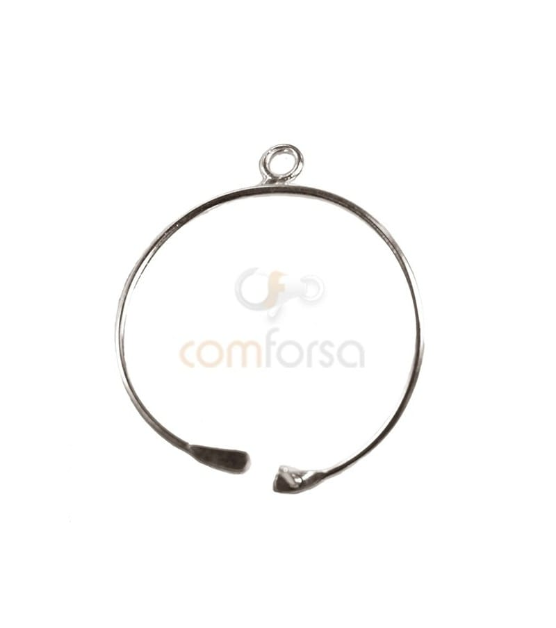 Colgante hilo circular 20 mm plata 925