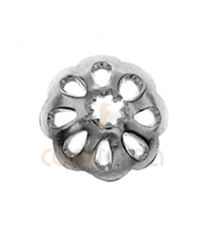 Sterling silver 925ml Cap with 8 petals 6 mm