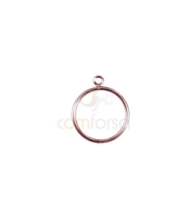 Sortija con anilla  Nº 10 plata 925 chapada oro rosa