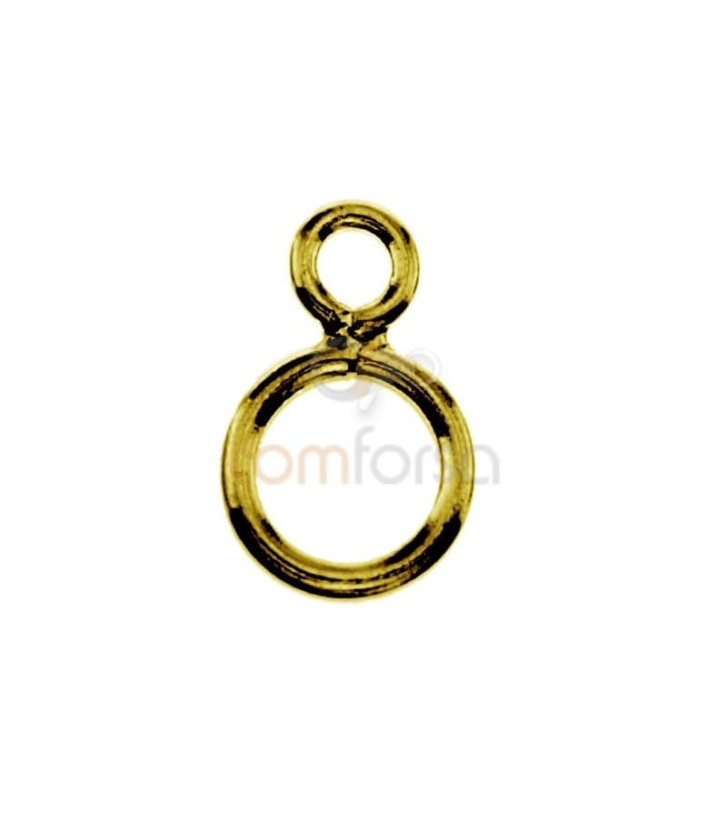Gold Plated Sterling Silver 925 Double Ring
