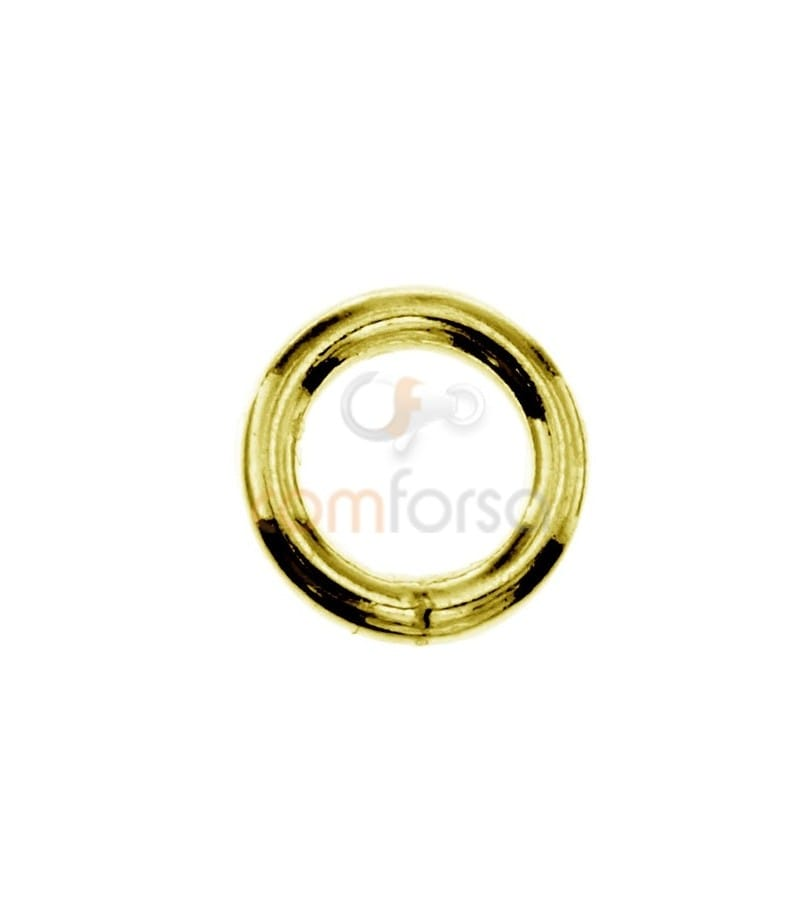 Soldered Gold Plated Sterling Silver 925 jump ring 7 mm ext (1.3)